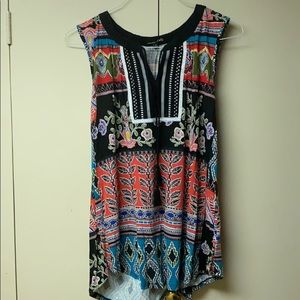 RXB Colorful Sleeveless Blouse
